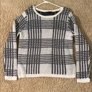Striped black and white sweater